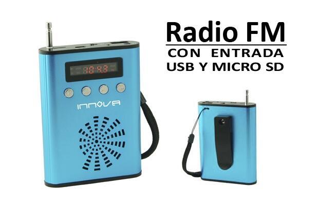 Radio FM con Micro SD y USB