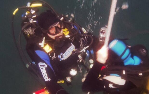 Bautismo de Submarinismo desde barco