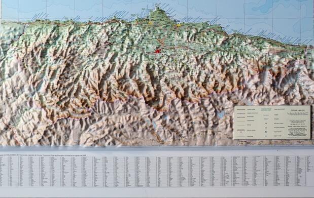 Gran Mapa de Asturias a relieve