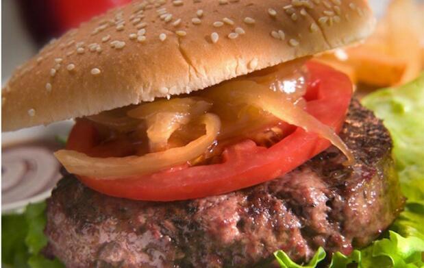 Menú con hamburguesa de buey de 250gr