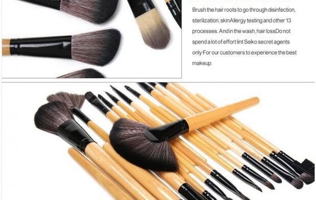 Set de 24 brochas para maquillaje