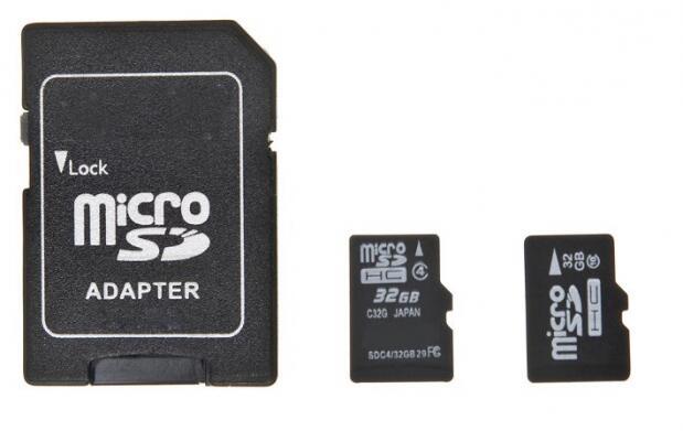 Tarjeta de memoria de 16 ó 32 GB