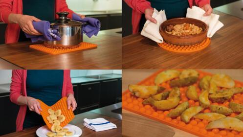 Bandeja de silicona para horno y microondas