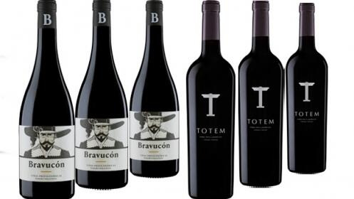 3 Botellas de Vino Bravucón + 3 de Vino Totem