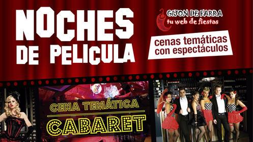 Entrada para las Noches de Película Gijón (cena temática con espectáculo)
