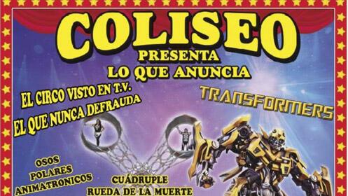 Entrada para el Circo Coliseo en Gijón