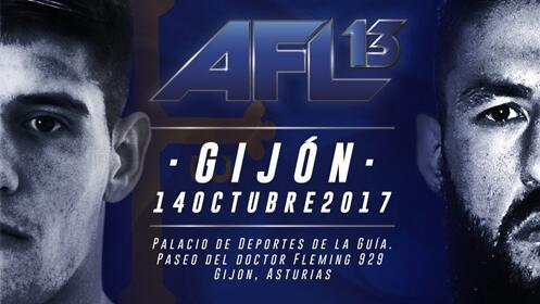 Entrada para AFL-13 Gijón. 5 combates amateurs y 11 combates profesionales