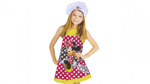 Set de Minnie Mouse: delantal + gorro