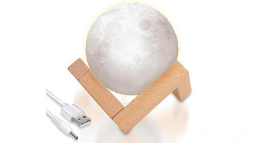 Lámpara lunar 3D LED Aldrin