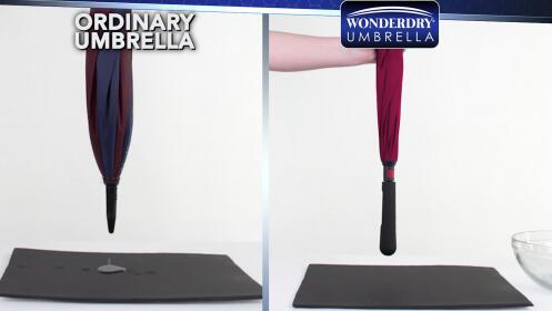 Paraguas mágico WonderDry, ¡Siempre seco!